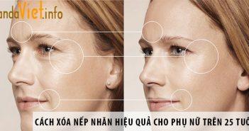 Cách xóa nếp nhăn hiệu quả cho phụ nữ trên 25 tuổi