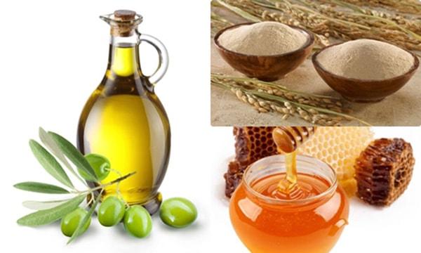 Tắm trắng bằng cám gạo, mật ong và dầu oliu đơn giản, hiệu quả
