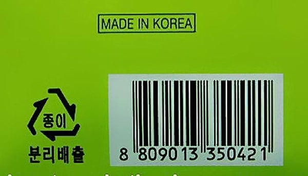 Hình ảnh về mã vạch trên sản phẩm