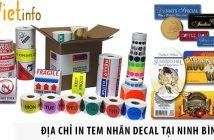 3 địa chỉ in tem nhãn decal giá rẻ tại Ninh Bình