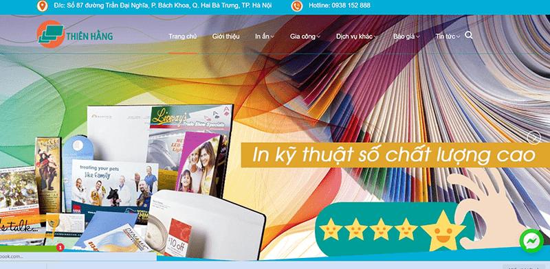 Website Công ty TNHH dịch vụ công nghệ Thiên Hằng
