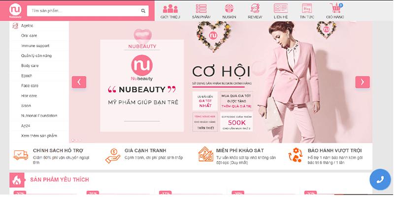 Nubeauty.com.vn là 1 trang bán mỹ phẩm Nuskin uy tín