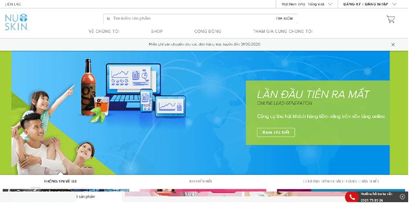 Nuskin.com là trang web chính thức của tổng công ty Nuskin tại Việt Nam