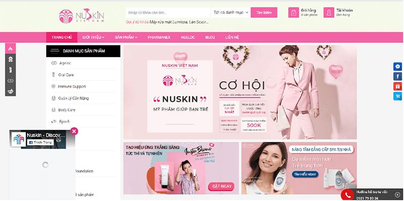 Nuskinvietnam.com.vn là một nhà phân phối chính hãng từ Nuskin tại Việt Nam.